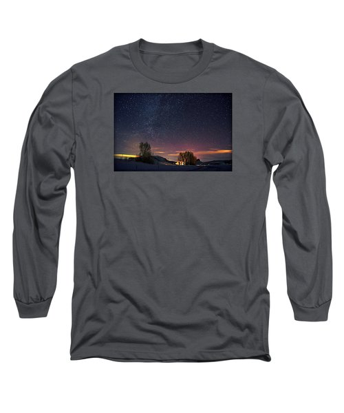 Country Night Life Long Sleeve T-Shirt by Matt Helm