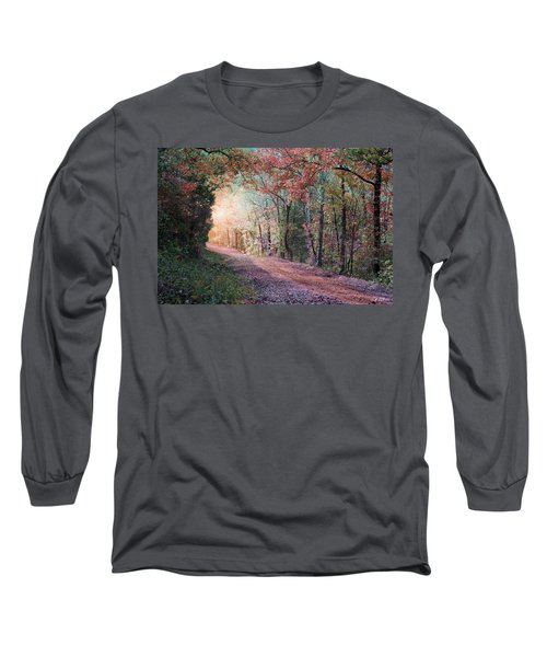 Country Road Long Sleeve T-Shirt by Bill Stephens
