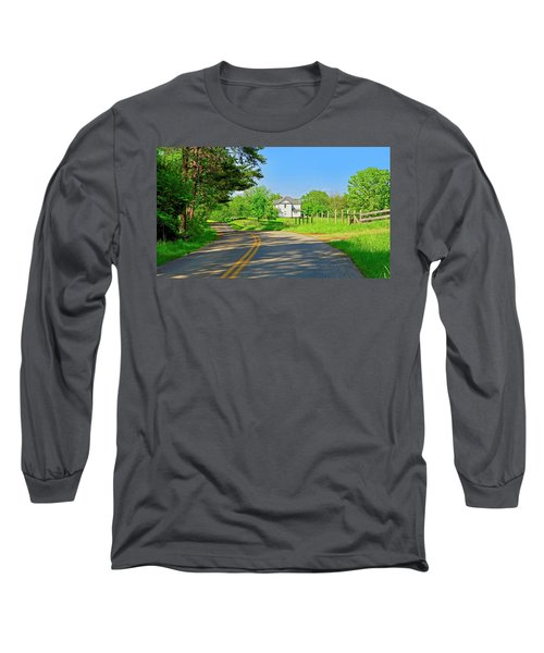 Country Roads Of America, Smith Mountain Lake, Va. Long Sleeve T-Shirt