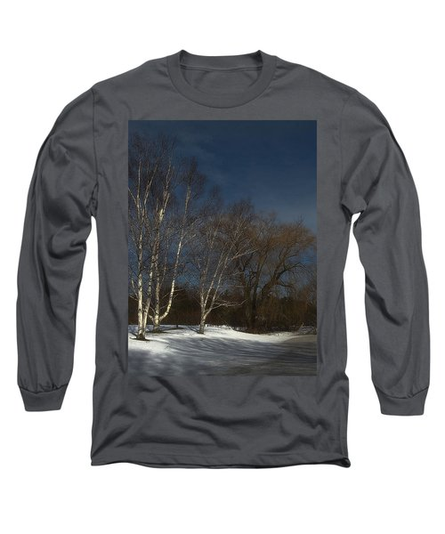 Country Roadside Birch Long Sleeve T-Shirt