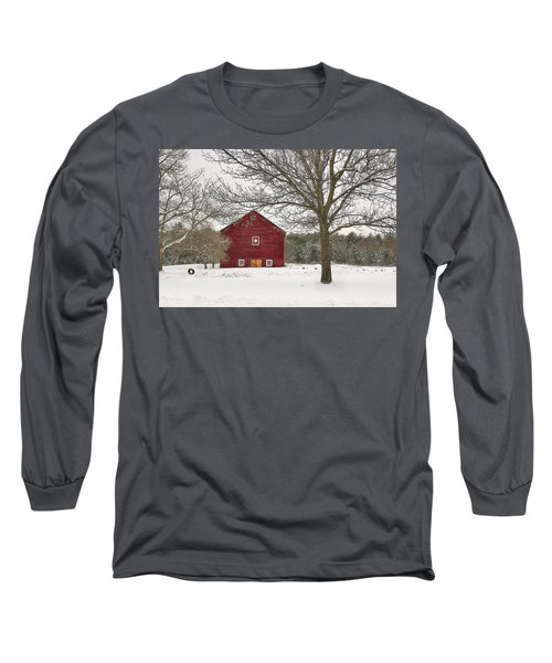 Long Sleeve T-Shirt featuring the digital art Country Vermont by Sharon Batdorf
