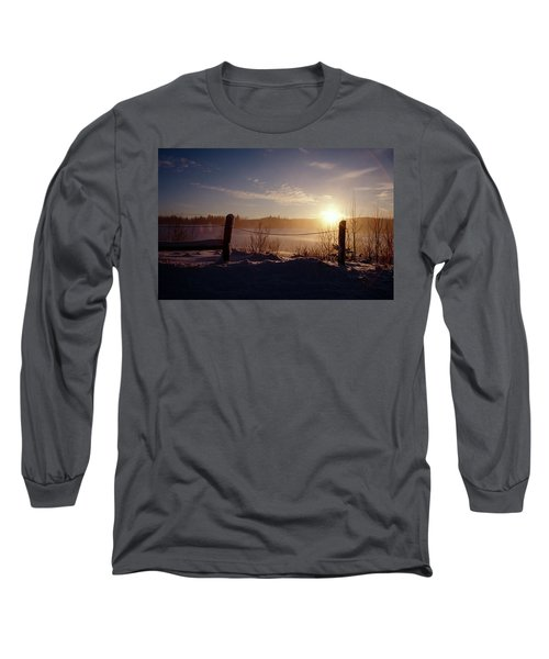 Country Winter Sunset Long Sleeve T-Shirt
