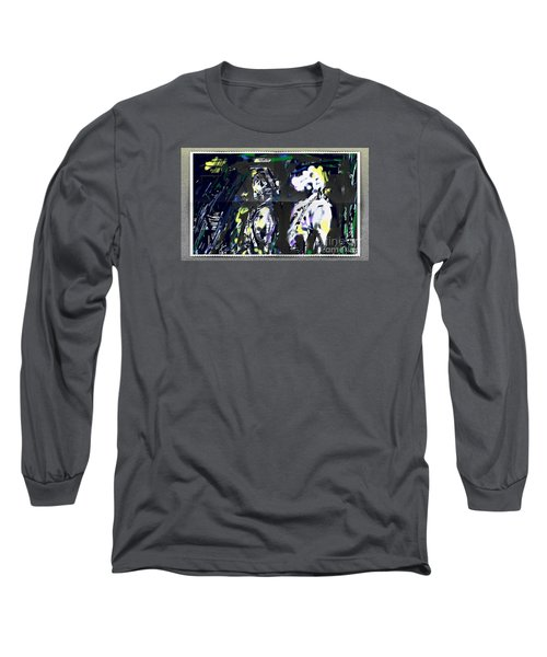Couple In Moonlight Long Sleeve T-Shirt