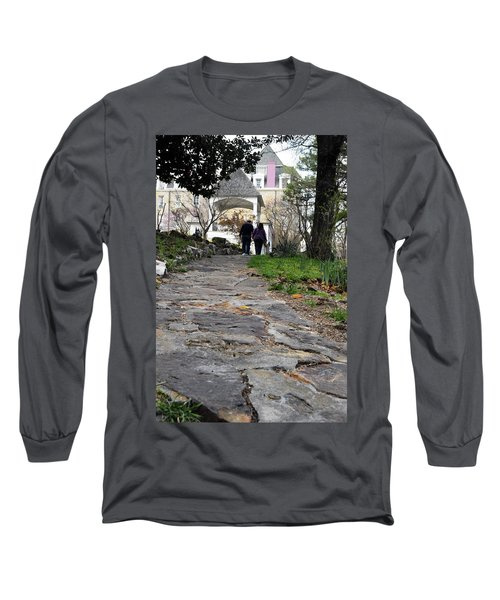 Couple On A Garden Path Long Sleeve T-Shirt