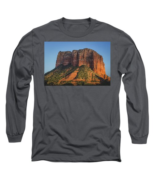 Courthouse Butte At Sunset Long Sleeve T-Shirt