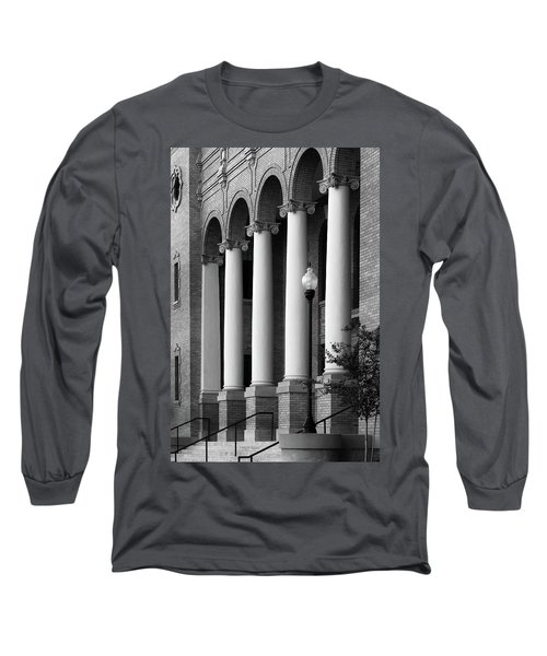 Long Sleeve T-Shirt featuring the photograph Courthouse Columns by Richard Rizzo