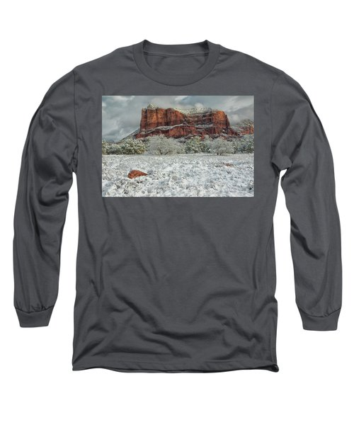 Courthouse In Winter Long Sleeve T-Shirt by Tom Kelly