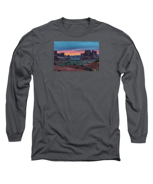 Courthouse Towers Arches National Park Long Sleeve T-Shirt