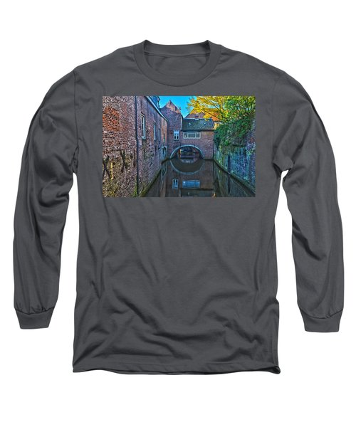Covered Canal In Den Bosch Long Sleeve T-Shirt by Frans Blok