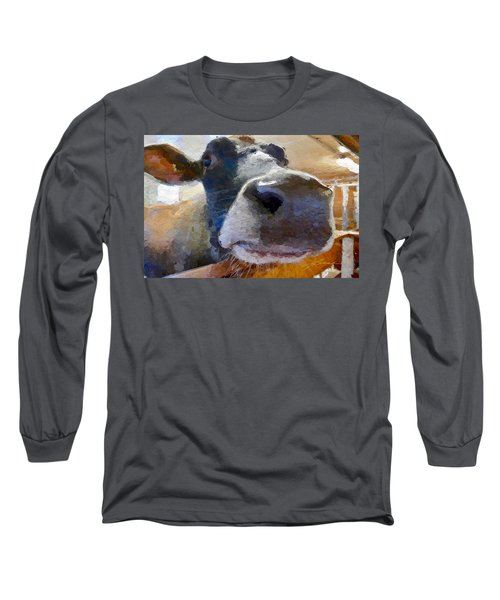 Cow Face Close Up Long Sleeve T-Shirt