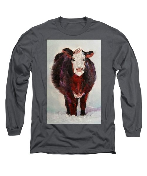 Cow Painting  Long Sleeve T-Shirt by Michele Carter