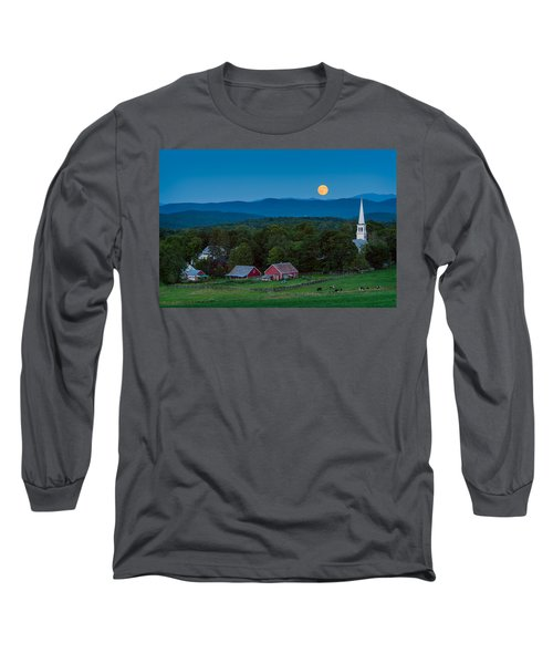 Cow Under The Moon Long Sleeve T-Shirt
