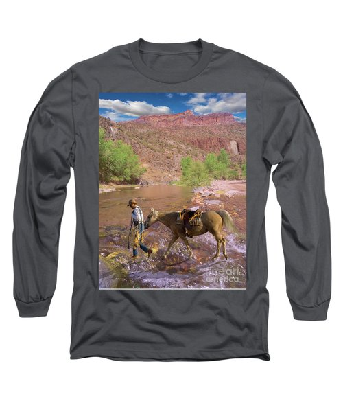 Cowboy And Horse Long Sleeve T-Shirt