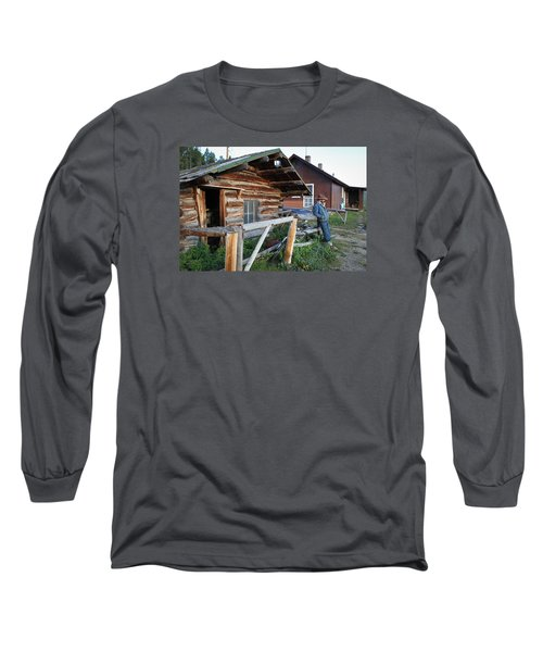 Cowboy Cabin Long Sleeve T-Shirt