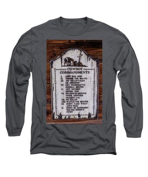 Cowboy Commandments Long Sleeve T-Shirt