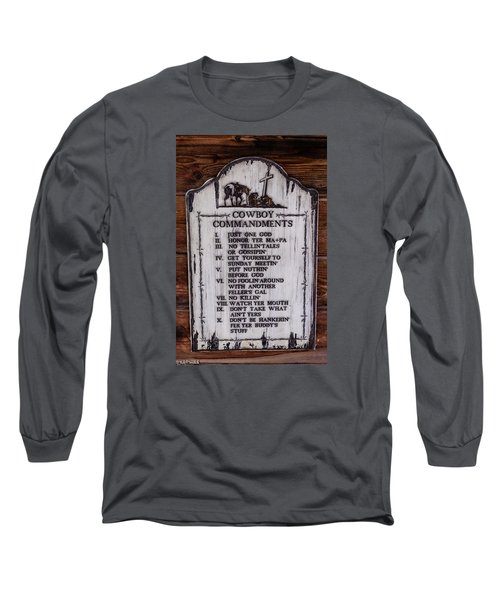 Cowboy Commandments Long Sleeve T-Shirt