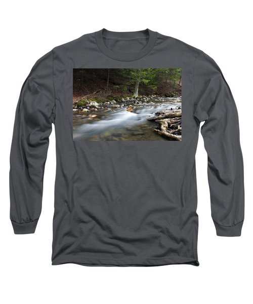 Long Sleeve T-Shirt featuring the photograph Coxing Kill In February #1 by Jeff Severson