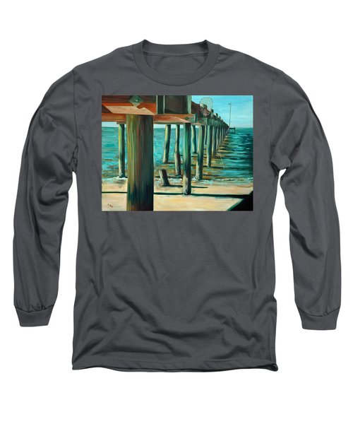 Crabbing At Low Tide Long Sleeve T-Shirt by Suzanne McKee