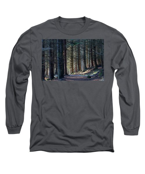 Long Sleeve T-Shirt featuring the photograph Craig Dunain - Forest In Winter Light by Karen Van Der Zijden