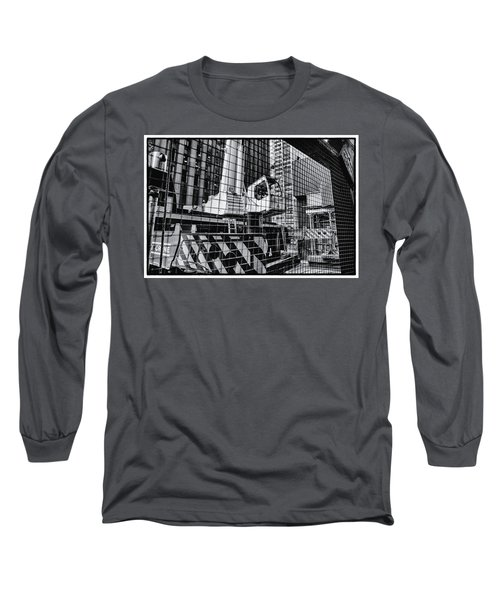 Crane In Manhattan Long Sleeve T-Shirt