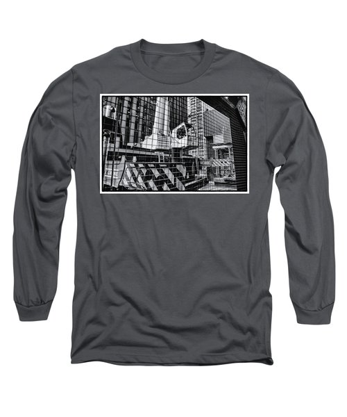 Crane In Manhattan Long Sleeve T-Shirt