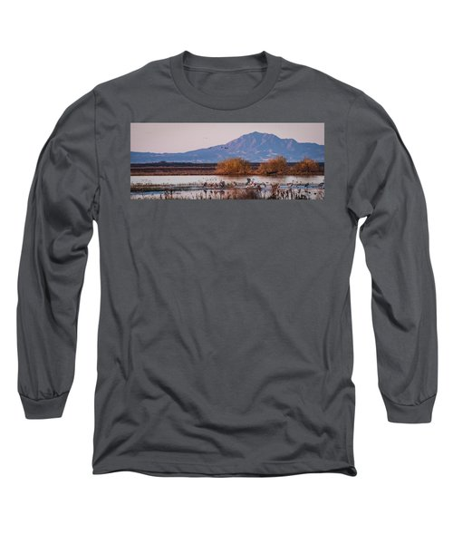 Cranes In The Morning Long Sleeve T-Shirt