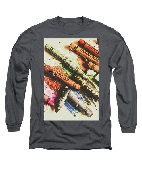 Crash Test Crayons Long Sleeve T-Shirt