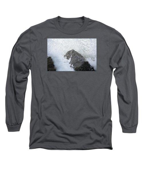 Crashing Wave Long Sleeve T-Shirt by Kenneth Albin
