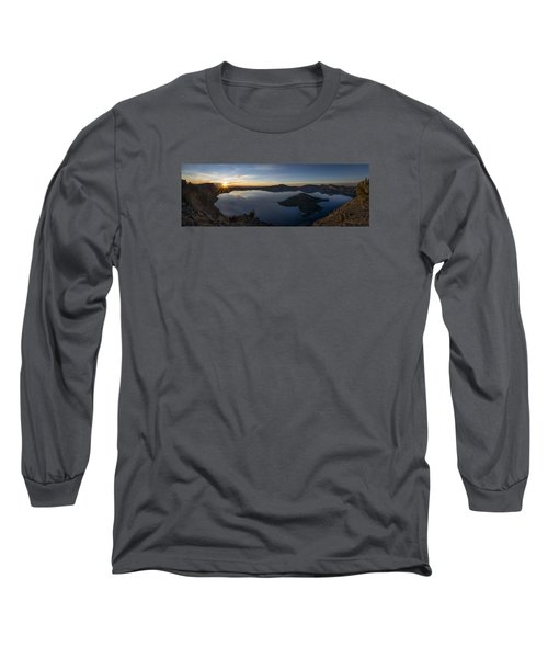 Crater Lake At Sunrise Long Sleeve T-Shirt