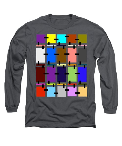 Crazy Quilt Long Sleeve T-Shirt by Cathy Harper
