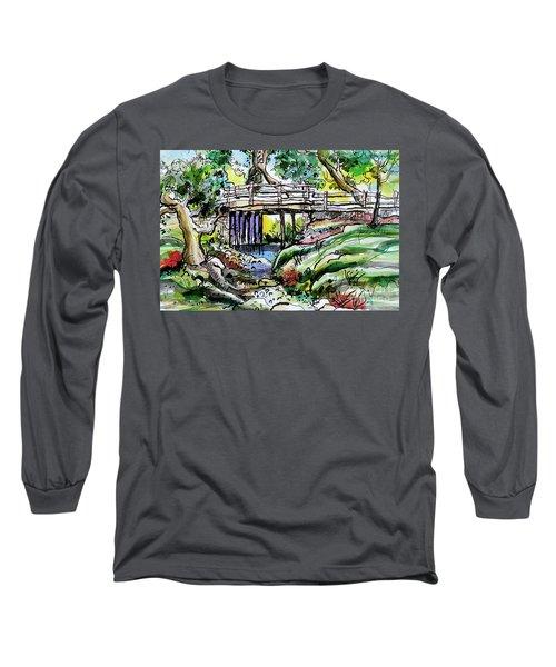 Creek Bed And Bridge Long Sleeve T-Shirt