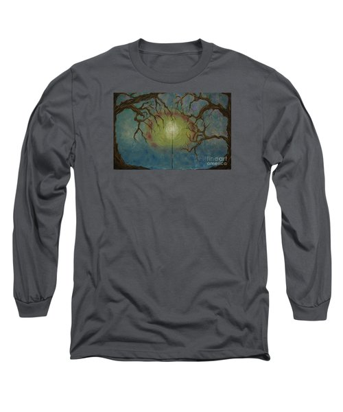 Long Sleeve T-Shirt featuring the painting Creeping by Jacqueline Athmann