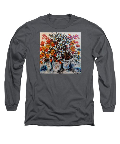 Crescendo Of Flowers Long Sleeve T-Shirt