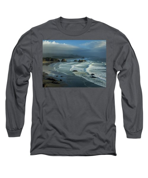 Crescent Beach And Surf Long Sleeve T-Shirt