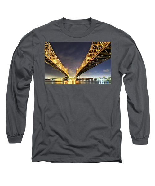 Crescent City Bridge In New Orleans Long Sleeve T-Shirt