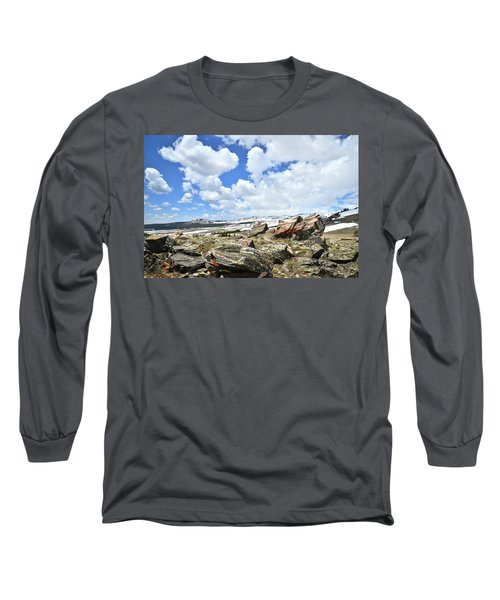 Crest Of Big Horn Pass In Wyoming Long Sleeve T-Shirt