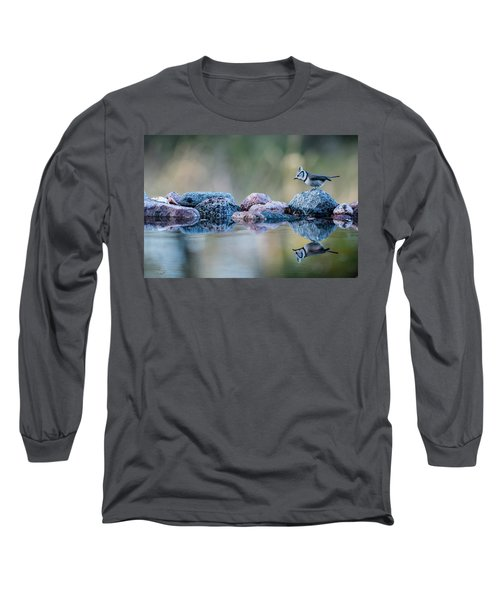 Crested Tit's Reflection Long Sleeve T-Shirt