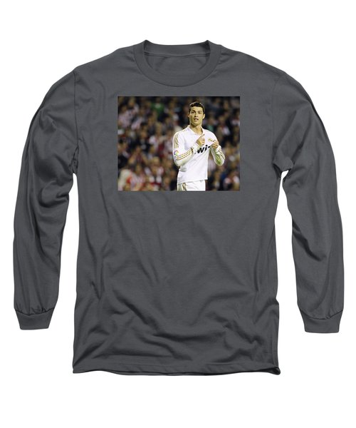 Cristiano Ronaldo 4 Long Sleeve T-Shirt by Rafa Rivas