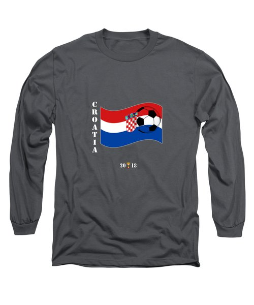 Croatia 2018 Soccer Tournament Flag Russia Long Sleeve T-Shirt
