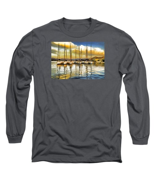 Long Sleeve T-Shirt featuring the photograph Croatia Marina by Dennis Cox WorldViews