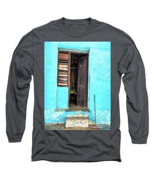 Crooked Blue Long Sleeve T-Shirt
