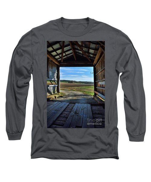 Crooks Covered Bridge 2 Long Sleeve T-Shirt by Joanne Coyle