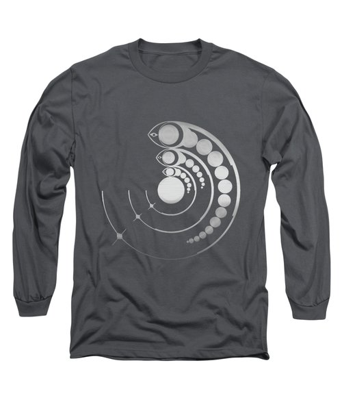 Crop Circle Formation Near Avebury Stone Circle In Wiltshire England In Silver Long Sleeve T-Shirt