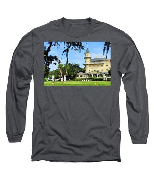 Croquet Anyone? Long Sleeve T-Shirt by Laura Ragland
