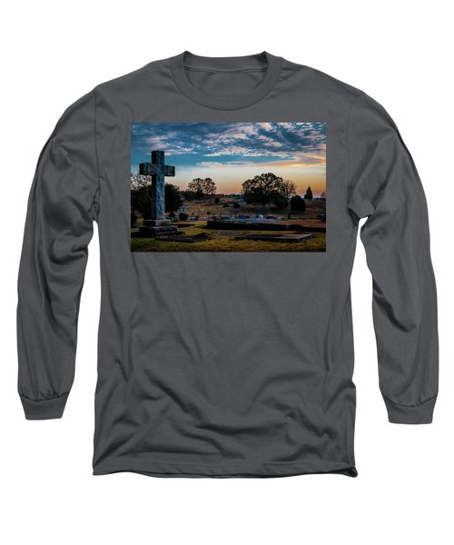 Cross At Sunset Long Sleeve T-Shirt
