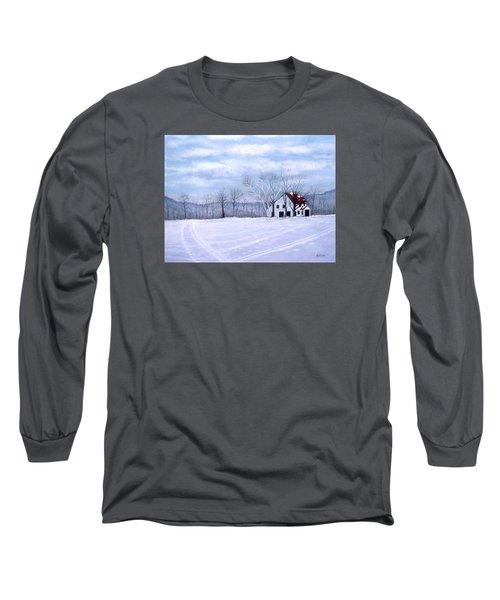Long Sleeve T-Shirt featuring the painting Cross Country by Karen Zuk Rosenblatt