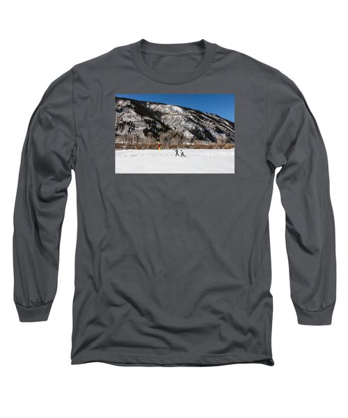 Cross-county Skiers Outside Aspen Long Sleeve T-Shirt