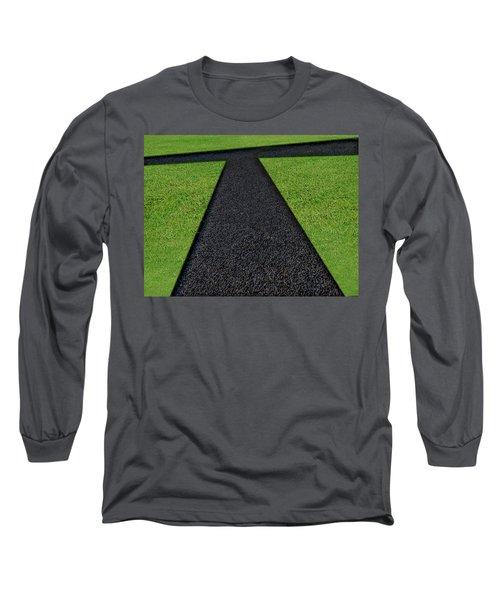 Long Sleeve T-Shirt featuring the photograph Cross Roads by Paul Wear