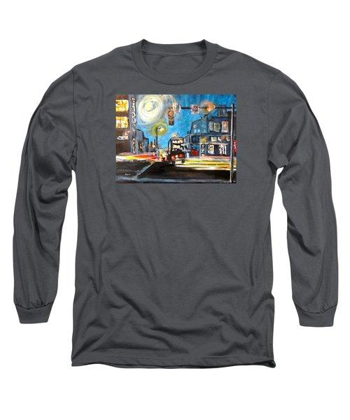 Cross Traffic Long Sleeve T-Shirt by Barbara O'Toole