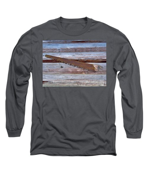 Crosscut Saw Long Sleeve T-Shirt